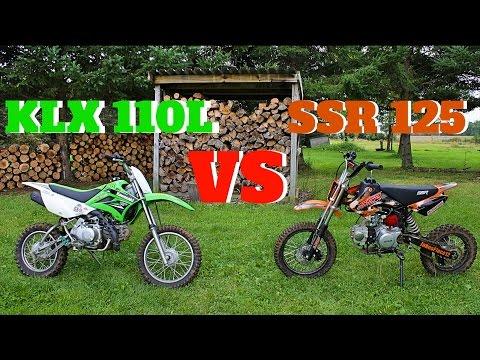 PIT BIKE COMPARISON SSR 125 vs KLX110L !!!!