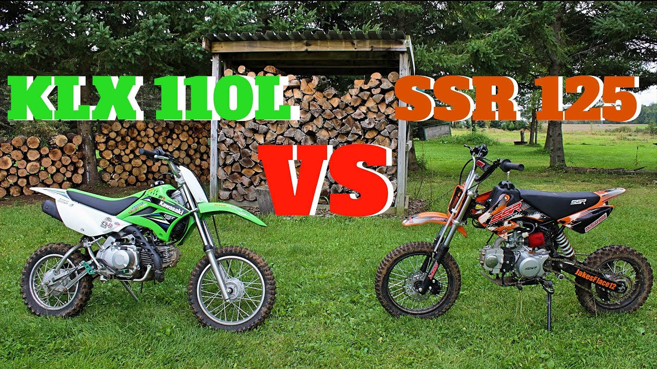 Pit Bike Comparison Ssr 125 Vs Klx110l Youtube