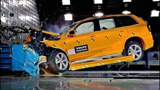 Volvo XC90 Frontal Offset Crash Test at 80 Km/h (50 Mph)