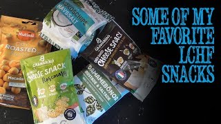 Some of my favorite LCHF snacks
