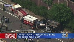 Dump Truck Hits State Troopers, Causes Chain-Reaction Crash On I-280 In N.J.