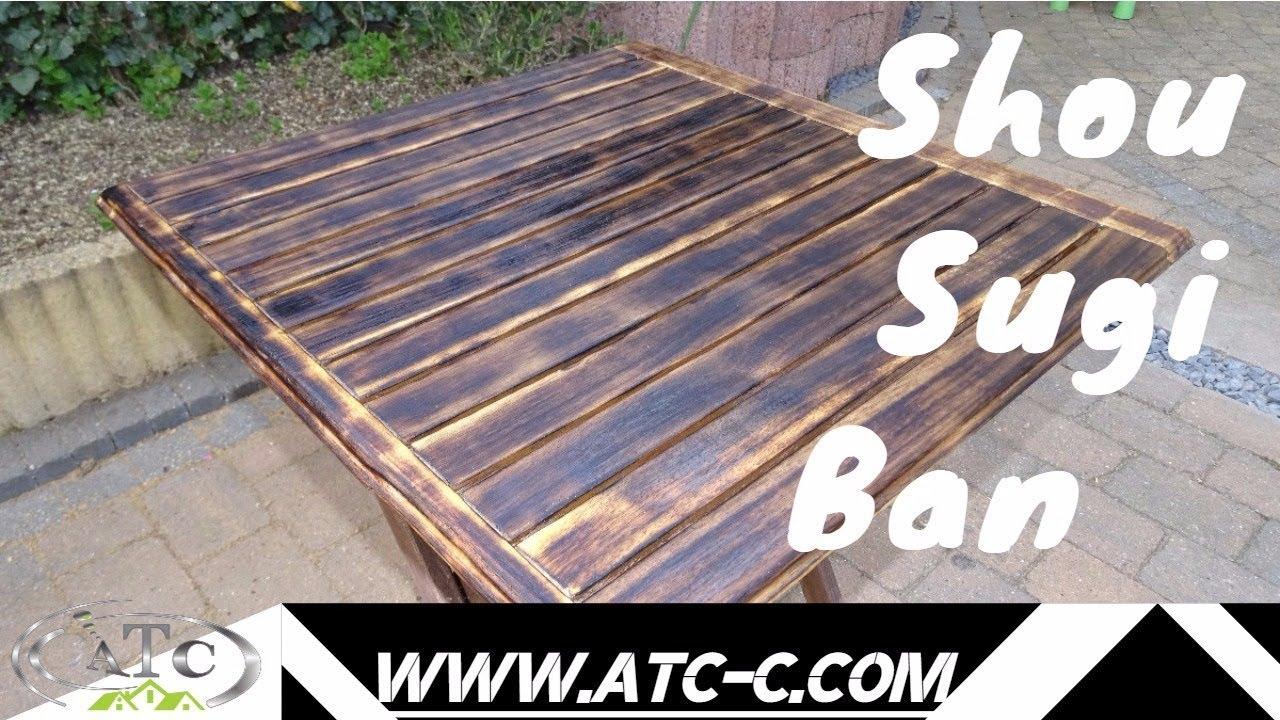shou sugi ban burning wood technique for outside table diy youtube. Black Bedroom Furniture Sets. Home Design Ideas