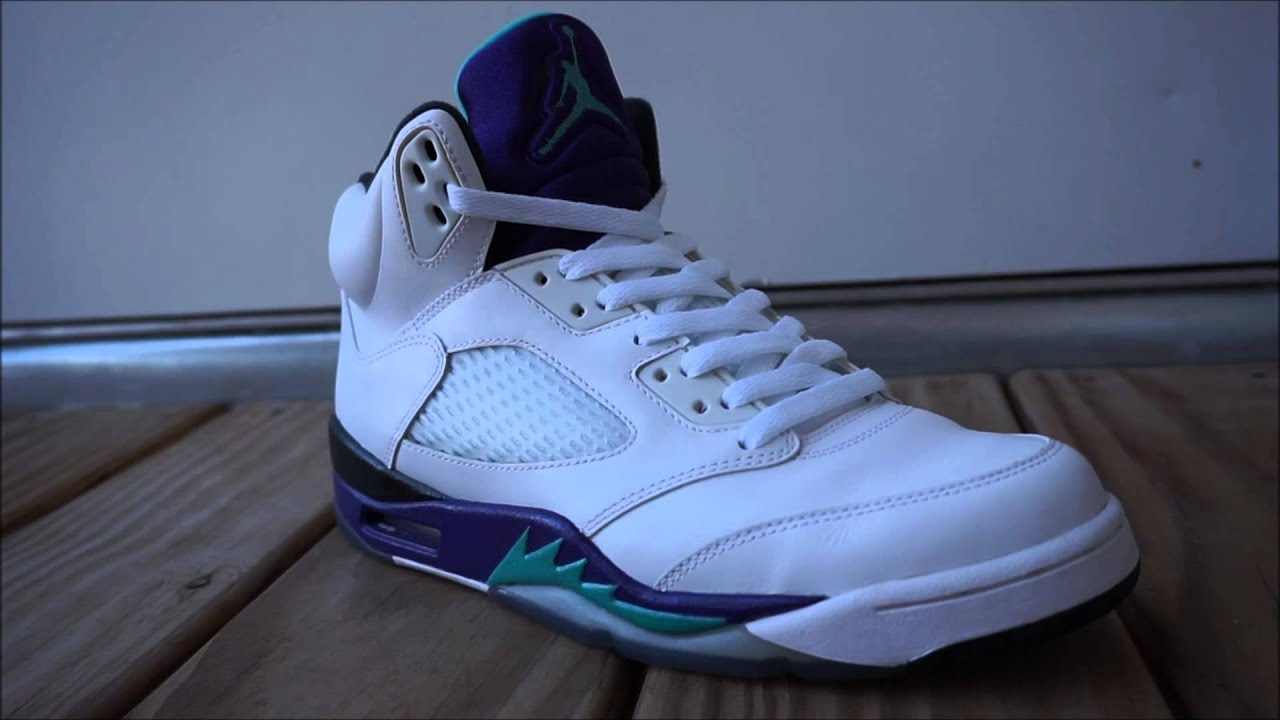 ... wholesale how i lace up my air jordan 5 grape shoes b86c3 25ac0 2cdbf4729