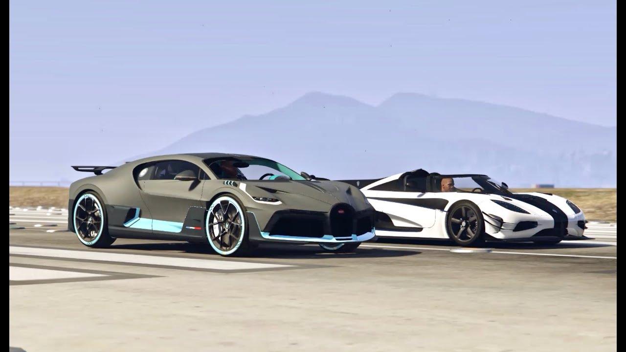 Bugatti Divo Vs Koenigsegg One 1 Drag Race Youtube