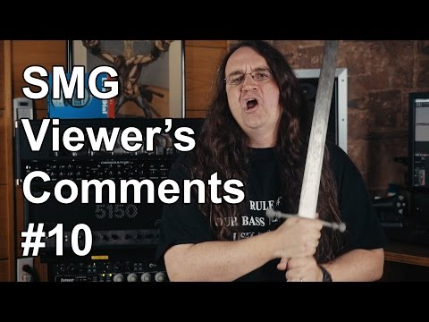 SMG Viewer's Comments #10 - drumming advice from drummers, Peavey Windsor, and Broadswords!