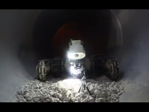 Operating robots underground