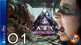 Let's Play ARK Extinction PS4 Pro | Console Co-op Multiplayer Gameplay Episode 1 (P+J)