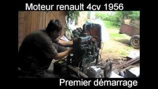 Premier démarrage moteur renault 4cv