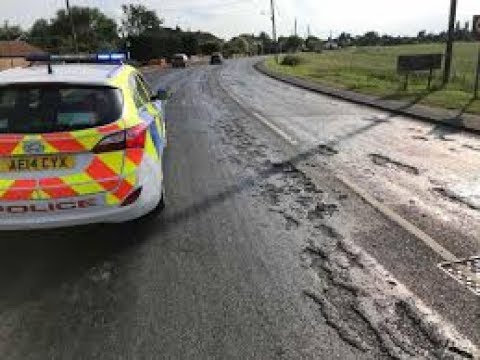 Roads Melting in Dorset, United Kingdom. June