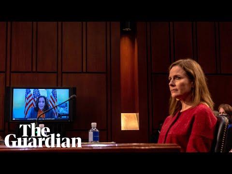 Kamala Harris presses Amy Coney Barrett on Trump's plan to dismantle Obamacare thumbnail