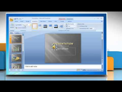 How to Play Sound continuously in Microsoft® PowerPoint 2007