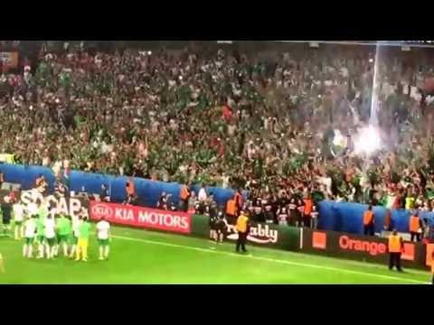 Italy 0 Republic of Ireland 1 - Euro 2016 - 22/6/16 - Last 5 minutes and full time celebrations