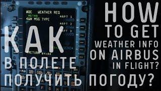 Как запросить погоду через MCDU на A320