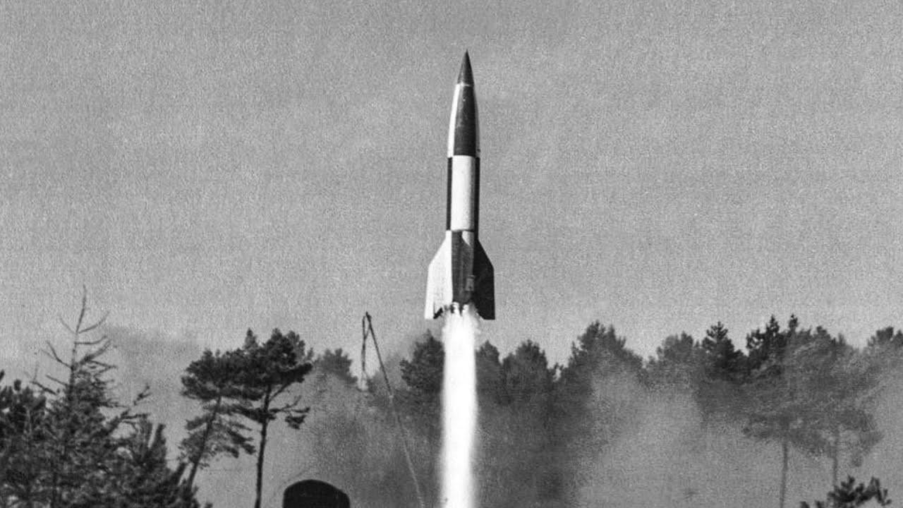 German V2 rocket, first ballistic missile in the world