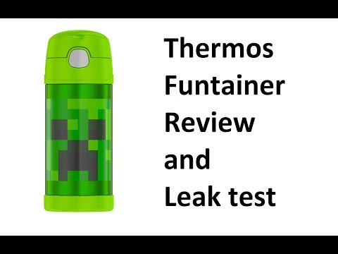 Thermos Funtainer Mincraft Creeper Review Leak Test