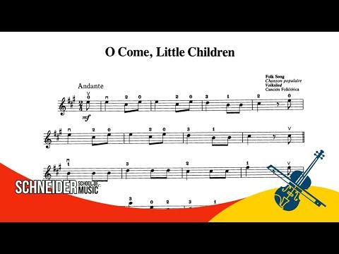 05  - O come little Children, Folk Song - Suzuki Vol 1 - Violino / Tutorial