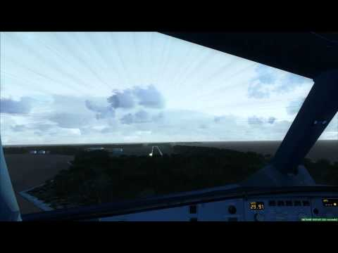 Stormy A330 Landing Midway Islands