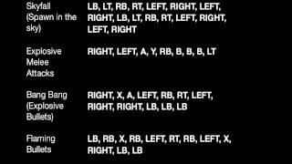 Grand Theft Auto 5 - All Cheat Codes (XBOX 360, GTA V)