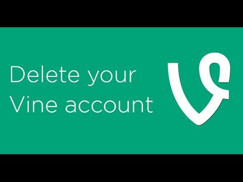 how to delete your vine account 2017