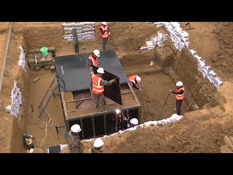 Time-lapse video: How to move an ancient tomb?