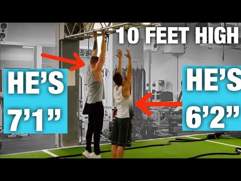 """7 FOOT GUY vs. 6'2"""" GUY! WORKOUT CHALLENGE!!"""