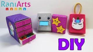 Recicla cajitas de Fósforos, conviértelas en material escolar - DIY - Matchbox reuse ideas
