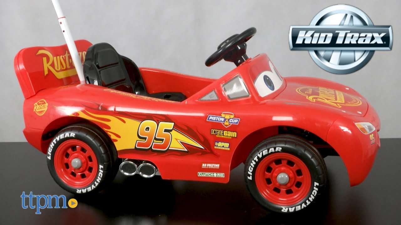 lightning mcqueen parent assist steer battery powered ride on from rh youtube com