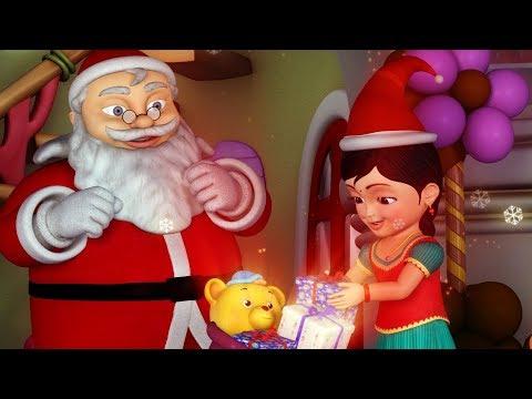 கண்மணியுடன் கிறிஸ்துமஸ் | Tamil Rhymes for Children | Jingle Bells | Infobells
