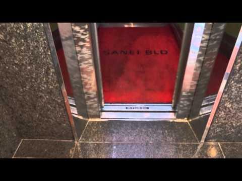 2x Very Nice 1998 Mitsubishi Traction Scenic Elevators@Sanei Building, Nishi, Yokohama City, Japan