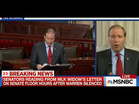 Tom Talks with MSNBC's Andrea Mitchell About Coretta Scott King's Letter