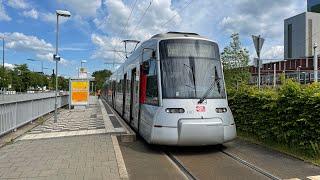Mitfahrt auf der Linie U83 von Düsseldorf Bilk S bis Düsseldorf Wehrhahn S (Ganzer Tunnel)