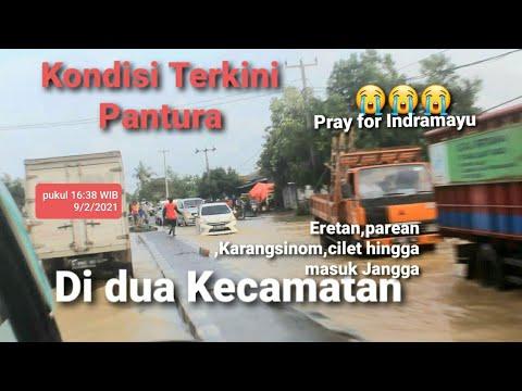 Terkini,Banjir Jalur Pantura Di Kec.Kandanghaur ,Losarang Hingga Masuk Jangga,Indramayu(9/2/2021)