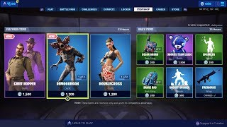 Fortnite New Item Shop Stranger Things Chief Hopper & DemoGorgon Skin Vines Wrap