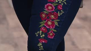 Martha Stewart Embroidered 5-Pocket Ankle Jeans on QVC