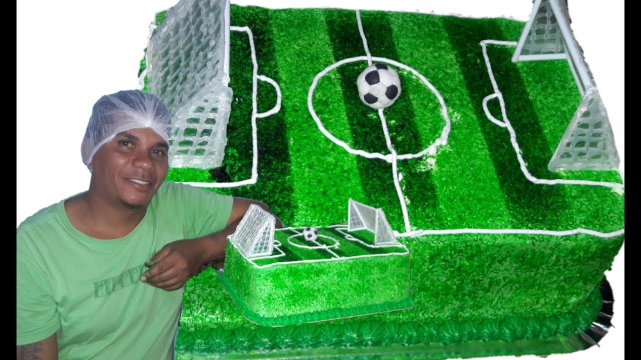 Decorado bolo com tema ( Campo de futebol ) - YouTube 617d6e653d287