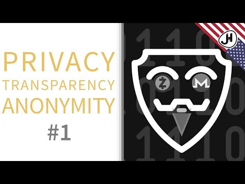 Privacy, transparency and anonymity in crypto currencies