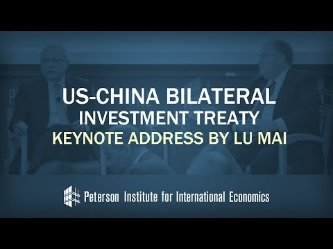 US-China Bilateral Investment Treaty: Keynote Address by LU Mai
