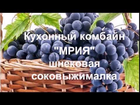 Мрия 2М кухонный комбайн видео. Шнековая соковыжималка Мрия 2М.  Сок из винограда.
