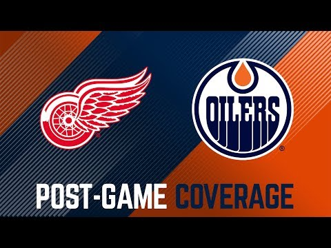 LIVE   Oilers Post-Game Interviews at Detroit