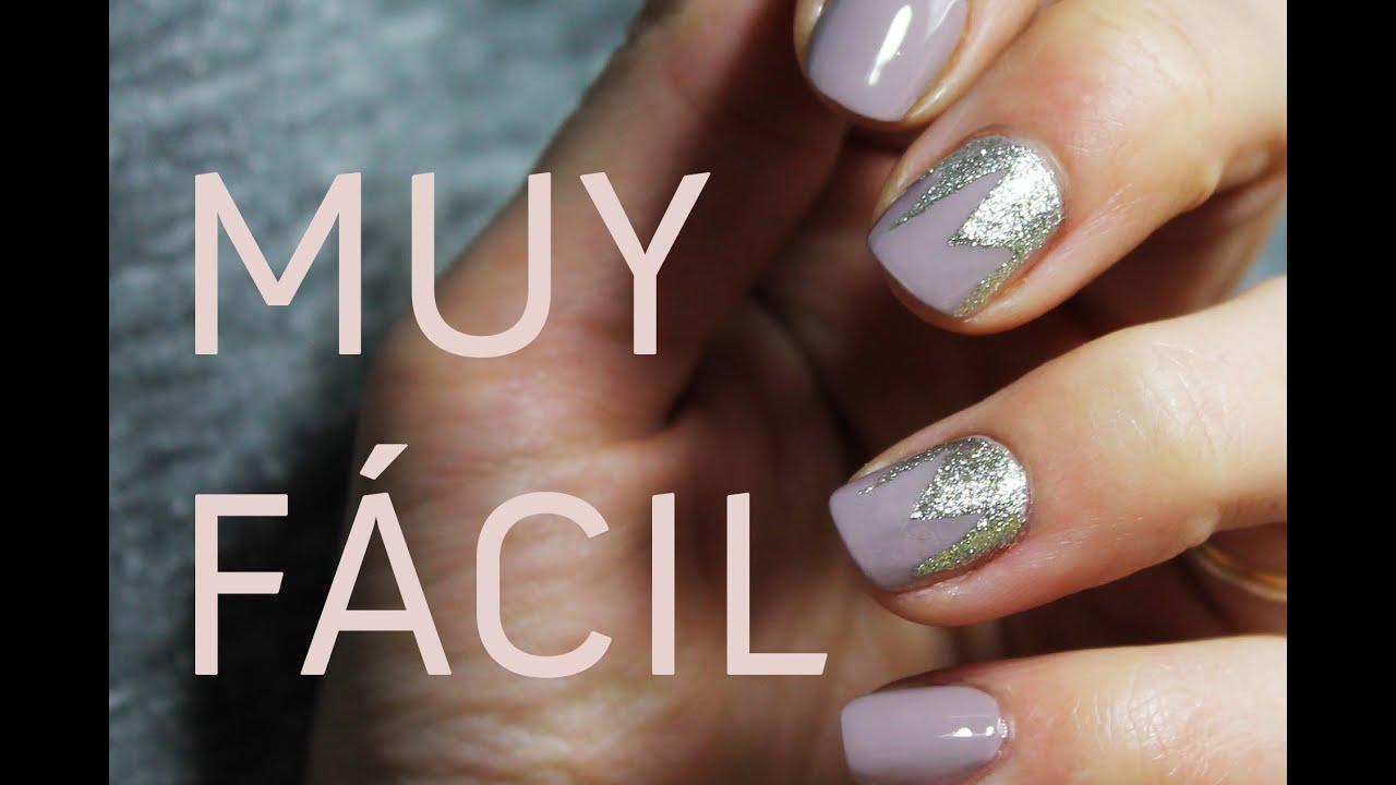 Uñas decoradas en gris topo y plata | Elegante, discreto y muy fácil ...