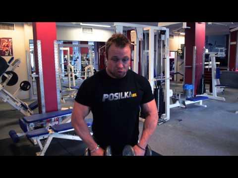 Posilka.cz - Filip Grznár - cvik na ramena upažovaní s jednoručkami