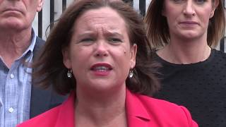 Mary Lou challenges PSNI on Flags and Bonfires