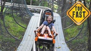 Kids Break the Speed Limit on Alpine Coaster!