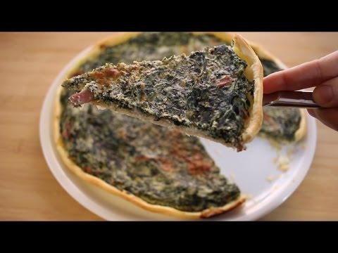 quiche-aux-épinards,-ricotta-et-speck||-tarte-salée-facile