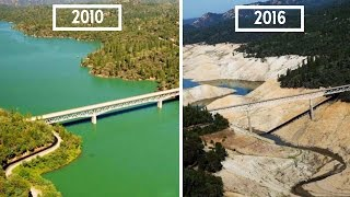 10 Shocking Photos of Earth THEN and NOW founded by NASA