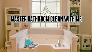 Master Bathroom Clean with Me l Cleaning Motivation l Bathroom Cleaning Routine
