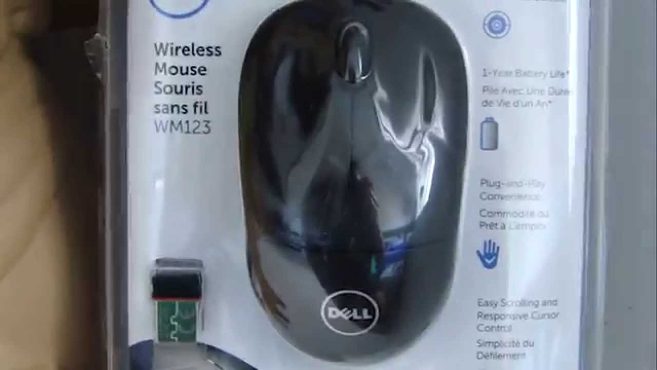 8b2b4f73ef4 Mouse sem fio Dell WM 123 - UNBOXING - YouTube