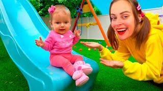 Jugando en el Parque Infantil - Canciones Infantiles | Maya y Mary