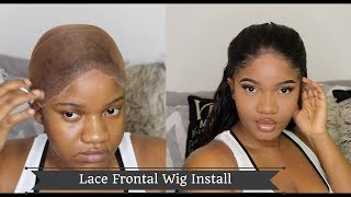 Secrets OUT!! Salon perfect natural lacefrontal  wig install !  BodyWave UNICE Hair  Ft. Got2b GLUED
