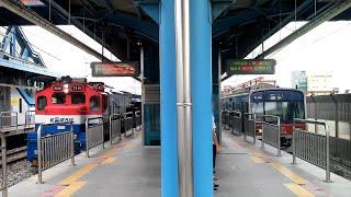 [철도풍경] 수도권 전철 1호선 인천행 열차, 화물열차…